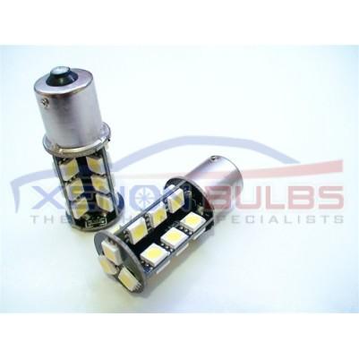 2 x 27 SMD 1156 BA15S P21W Xenon CANBUS ERROR FREE WHITE
