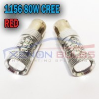 2x 80w RED CANBUS ERROR FREE CREE 1156 382..