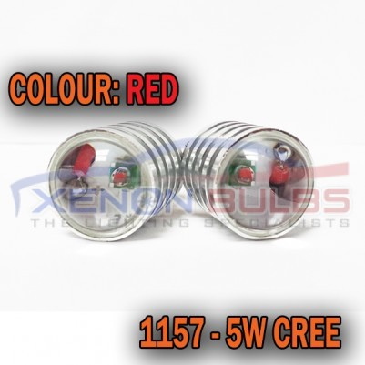 1157 5W RED CREE CANBUS ERROR FREE