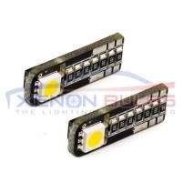2 SMD T10/501/W5W LED BULBS - PAIR canbus..