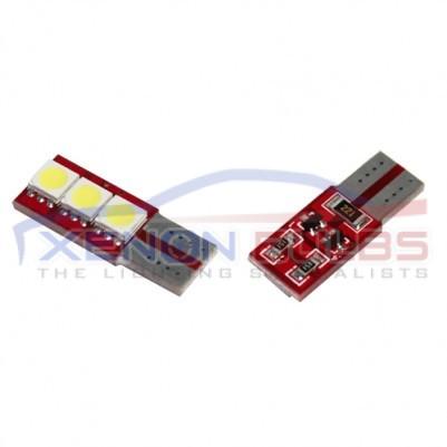 1 SIDED 3 SMD T10 501 W5W LED BULBS - PAIR