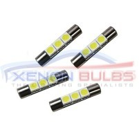 4 x SUN VISOR INTERIOR VANITY MIRROR LIGHT LED WHITE SMD 31MM ..