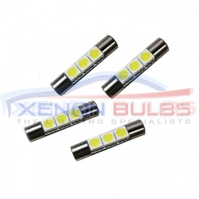 2x 31mm 6 SMD LED 269 White 5050 30mm