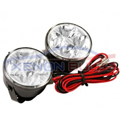 70MM ROUND DRL 4 LED DAYTIME RUNNING LIGHTS FRONT SPOT FOG LIGHTS daytime