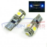 5 BLUE SMD T10/501/W5W LED BULBS - PAIR canbus..