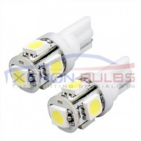 5 SMD White Xenon Side Light HID 501-W5W-T10-5050 ..