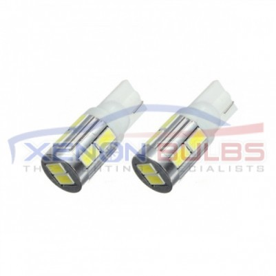 10 SMD 501 W5W 5630 CANBUS ERROR FREE HIGH POWER LED