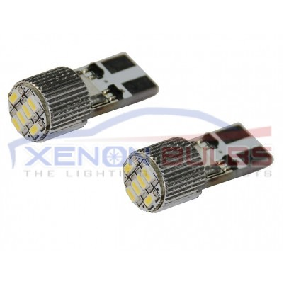6 SMD T10/501/W5W LED BULBS - PAIR canbus