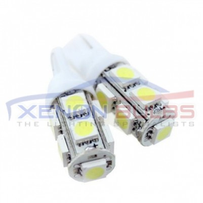9 SMD White Xenon Side Light HID 501-W5W-T10-5050