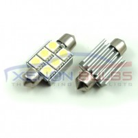 36mm FESTOON BULBS LED 6 SMD CANBUS ERROR FREE..