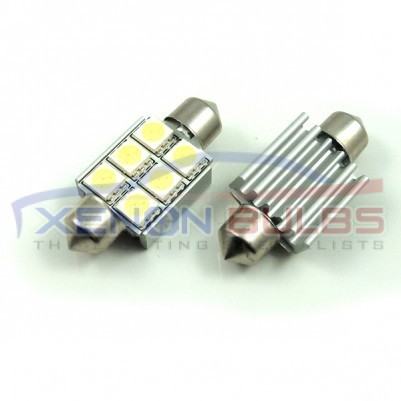 36mm FESTOON BULBS LED 6 SMD CANBUS ERROR FREE