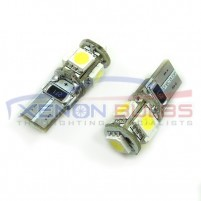 5 SMD T10/501/W5W LED BULBS - PAIR canbus Number plate..
