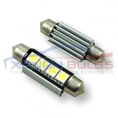 CANBUS FESTOON LED BULBS 4 SMD 42mm - (Pair)