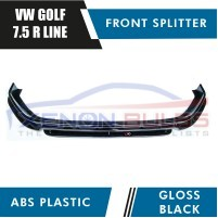 VW GOLF MK 7.5 R R/LINE FACELIFT MODELS FRONT SPLITTER GLOSS BLACK 201..