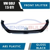 VW GOLF MK 7.5 GTI GTD FACELIFT MODELS FRONT SPLITTER LIP GLOSS BLACK ..