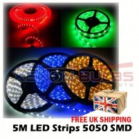 12v 5M IP65 Flexible LED Strip Light Roll Waterproof Ribbon Tape BLUE ..