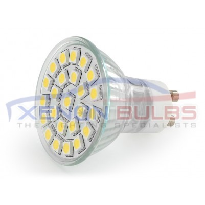 4W 24 SMD GU10 LED Bulb, 40W Halogen Lamp Equivalent Day White
