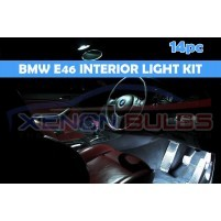 BMW 14 PC E46 WHITE LED INTERIOR KIT SALOON SEDAN..