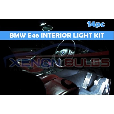 BMW 14 PC E46 WHITE LED INTERIOR KIT SALOON SEDAN