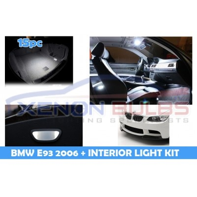 BMW 15 PC E93 WHITE LED INTERIOR KIT