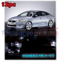 Ford Mondeo MK4 IV INTERIOR LED SMD Bulbs KIT WHITE CAN BUS..