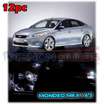 Ford Mondeo MK4 IV INTERIOR LED SMD Bulbs KIT WHITE CAN BUS