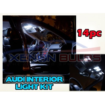 AUDI 14 PC A3 A6 B6 B7 WHITE LED INTERIOR KIT