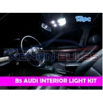 AUDI 13 PC B5 WHITE LED INTERIOR KIT..