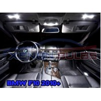BMW 18 PC 5 SERIES F10 WHITE LED INTERIOR KIT..