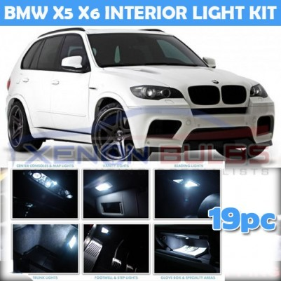 BMW 19 PC X5 X6 E70 E71 WHITE LED INTERIOR KIT WHITE