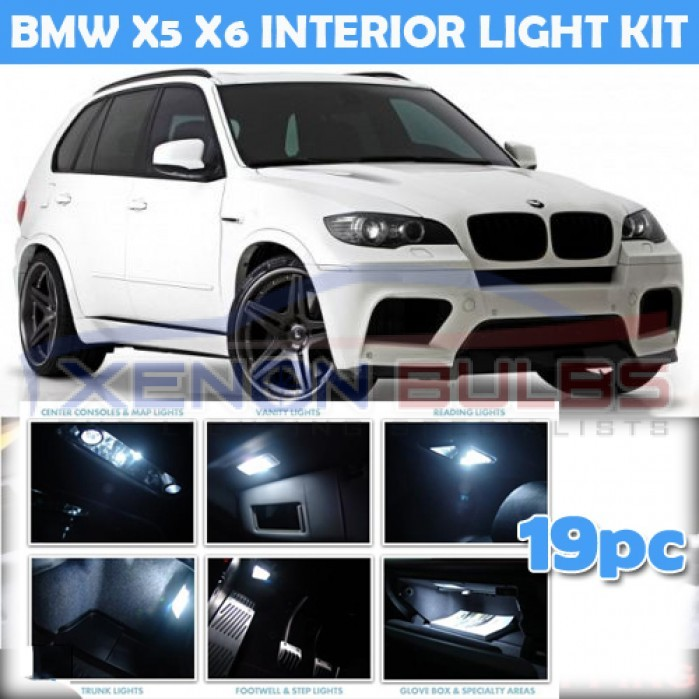 Bmw X6 Video Review: BMW 19 PC X5 X6 E70 E71 WHITE LED INTERIOR KIT WHITE