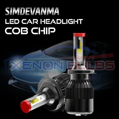 2 x K1 H4 70w 8000 lumens LED dipped high beam Kit White Canbus Error Free for VW Cadddy