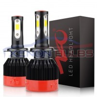 H1 H4 H11 9012 HB3 HB4 K2 CSP Chip LED Headlight Bulbs Canbus Error Fr..