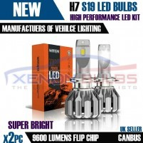 2 x H7 S19 BRIGHT LED KIT 9600 Lumens..