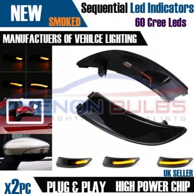 2× Dynamic LED Turn Signal Mirror Light Indicator Ford Fiesta MK7 B-Max 09 - 17 UK STOCK