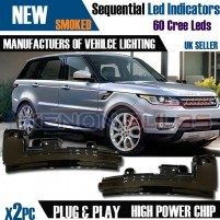 2x Sequential LED Wing Mirror Cover Indicator light Range Rover Sport ..