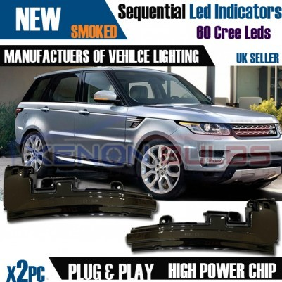 2x Sequential LED Wing Mirror Cover Indicator light Range Rover Sport L494 2014 UK Stock