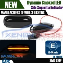 2x Landrover Discovery Defender LED Sequential Side INDICATOR Smoked A..