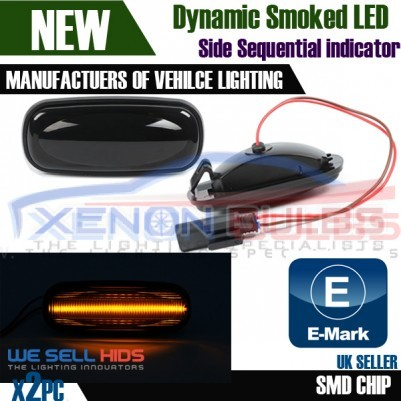 2x Landrover Discovery Defender LED Sequential Side INDICATOR Smoked Amber Unit