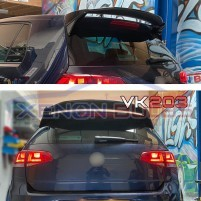 RACING PPV400 STYLE GLOSS BLACK REAR ROOF SPOILER for VW GOLF 7 & 7.5 ..
