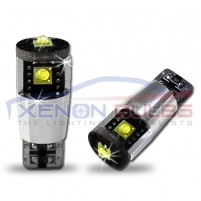 3 LED Cree CANBUS T10 501 W5W BULBS no error White..
