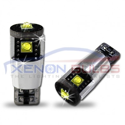3 LED Cree CANBUS T10 501 W5W BULBS no error White