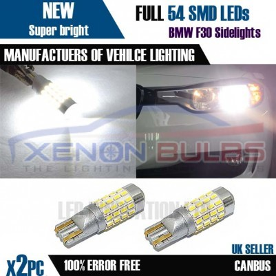 T10 W5W LED 54 3014SMD 194 501 Canbus ERROR FREE SMD Xenon Bright White lights