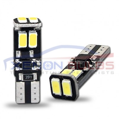 6 SMD 5630 T10/501/W5W LED BULBS CANBUS ERROR FREE