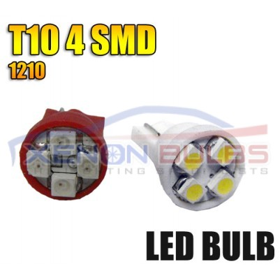 4 LED White 501 w5w t10 capless bulbs