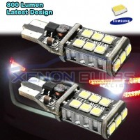 2x T15 W16W 921 LED CANBUS Extreme 3535 Samsung Light Bulbs White REVE..