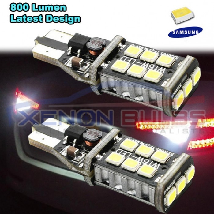 2x T15 W16w 921 Led Canbus Extreme 3535 Samsung Light