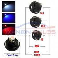T4.2 White Blue Red 1210 3528 SMD LED Dashboard Cluster Speedo Interio..