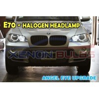 BMW E70 X5 HALOGEN HEADLAMP ANGEL EYE UPGRADE WHITE..