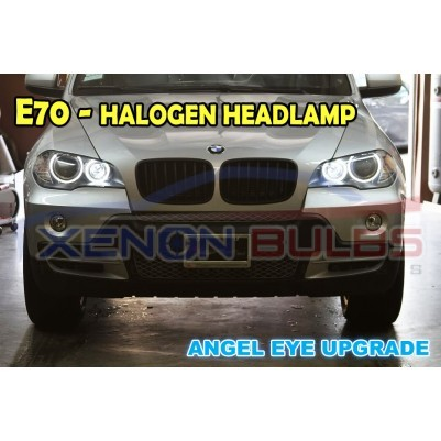 BMW E70 X5 HALOGEN HEADLAMP ANGEL EYE UPGRADE WHITE